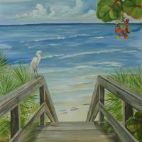 Boardwalk egret