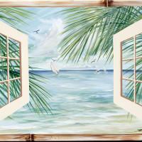 Tropics with bamboo