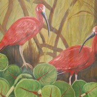 TWO IBIS PAINTING