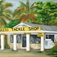 Wabasso tackle shop print