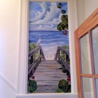 Boardwalk mural installed